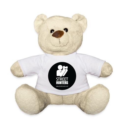 white logo on black circle URL png - Teddy Bear