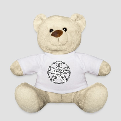 Treble Clef Mandala (white/black outline) - Teddy Bear