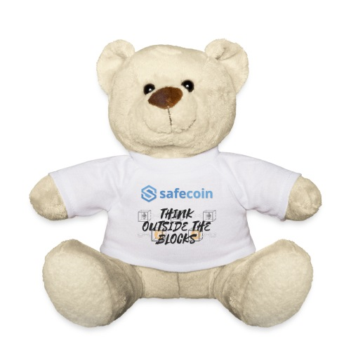 SafeCoin; Think Outside the Blocks (black + blue) - Teddy Bear