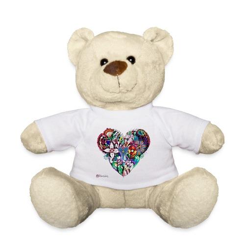 Mandala Herz bunt. - Teddy