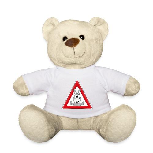 VORSICHT ESEL - TIER - TIERISCH - GESCHENKIDEE - Teddy