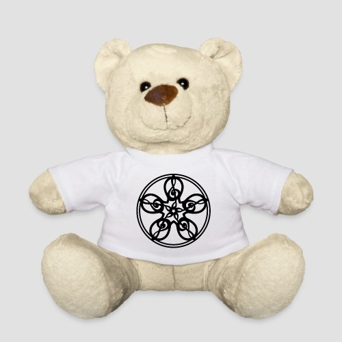 Treble Clef Mandala (black) - Teddy Bear
