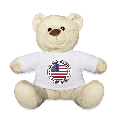 The United States of America - USA flag emblem - Teddy Bear