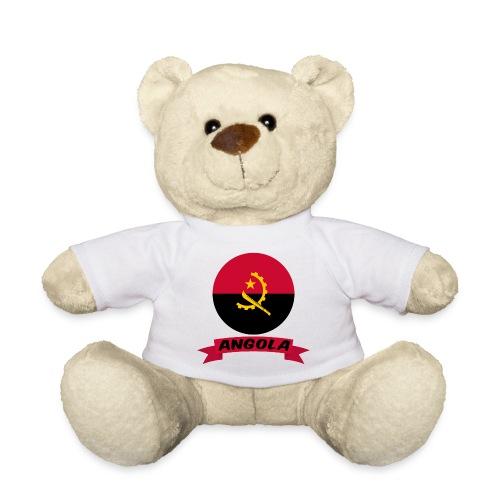 flag of Angola t shirt design ribbon banner - Orsetto