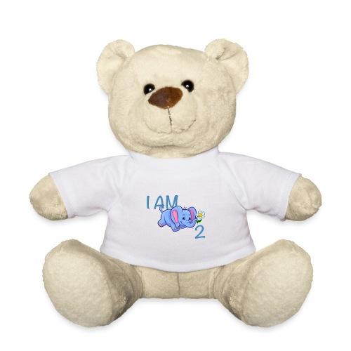 I am 2 - elephant blue - Teddy Bear