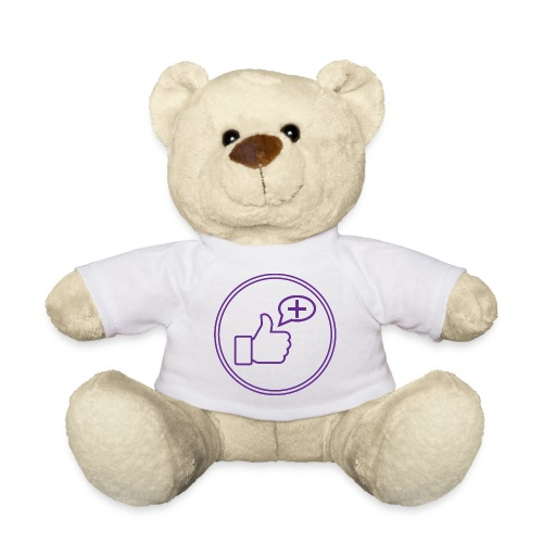 Stay Positive Icons and circle - Teddy Bear