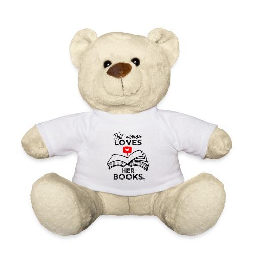 0217 Diese Frau liebt ihre Bücher   Leserin - Teddy Bear