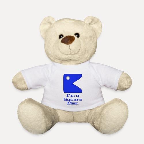 Square man blue - Teddy Bear