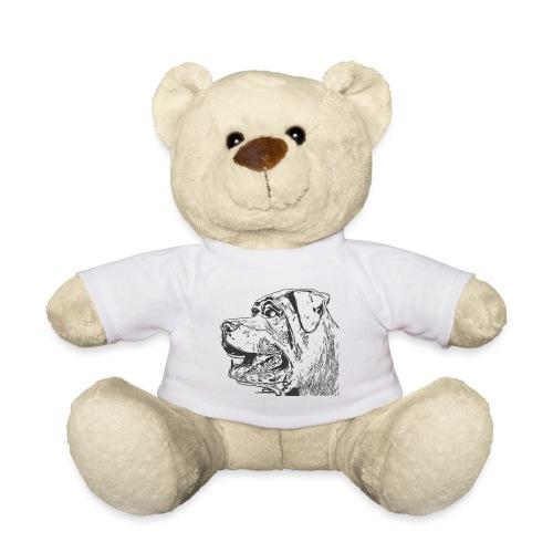 Rottweiler Mund offen schwarz - Teddy