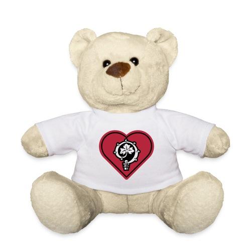 herz shirt weiss hoch 25cm ok - Teddy