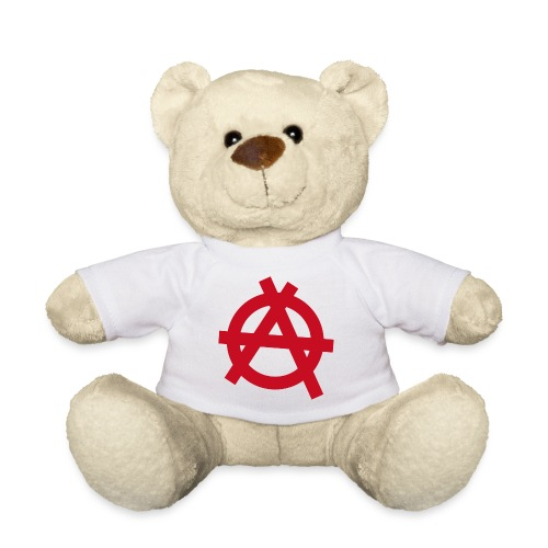 Anarchy symbol - red - Teddy Bear