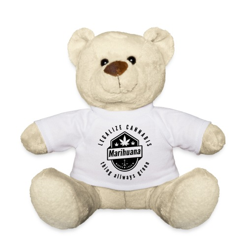 Legalize Cannabis Smoke Weed - Colors Changeable - Teddy Bear