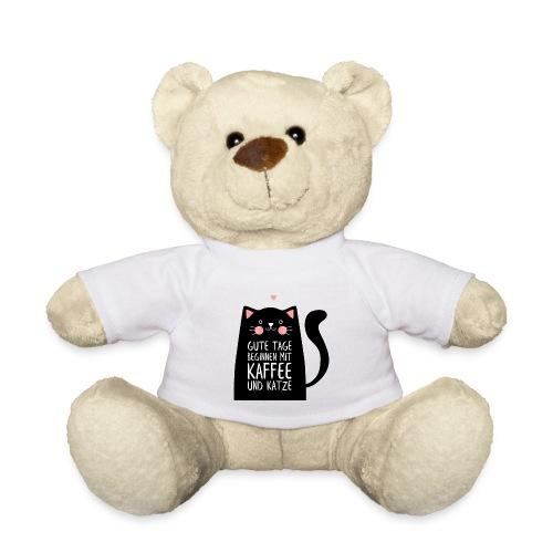 Gute Tage starten mit Kaffee und Katze - Teddy