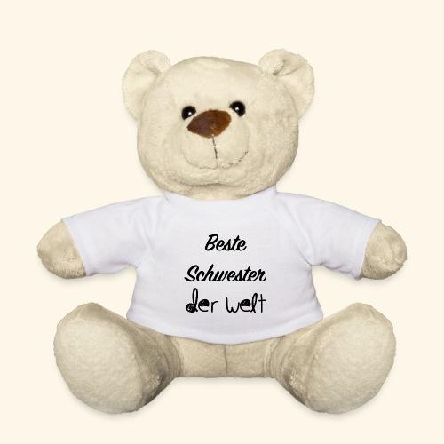 Teddybär beste Schwester der Welt, Geschenkidee - Teddy