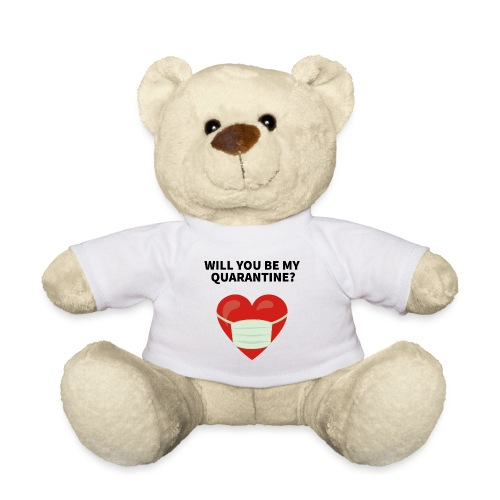 Herz mit Mundschutz und Schriftzug - Teddy