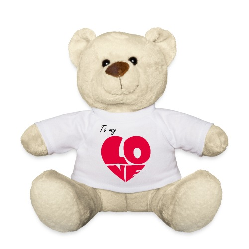 To my Love, A mon Amour, Coeur Rouge - Nounours