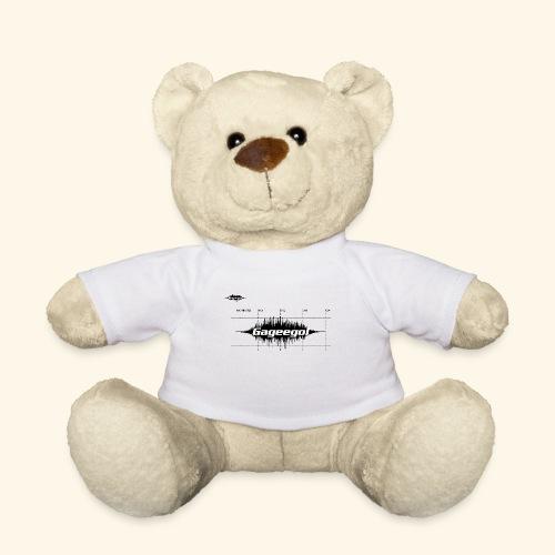Gageego logga vit text - Nallebjörn