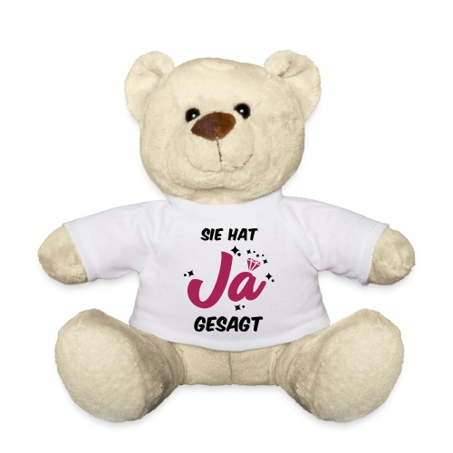 Sie hat JA gesagt - JGA T-SHirt - JGA Shirt -party - Teddy