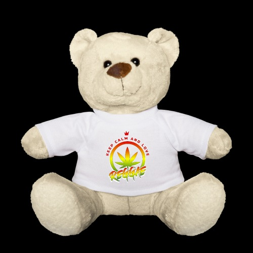 KEEP CALM LOVE REGGAE wht edge - Teddy Bear