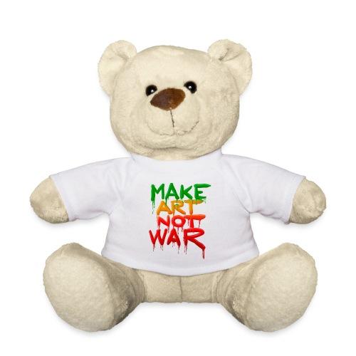 Make Art Not War - Teddybjørn