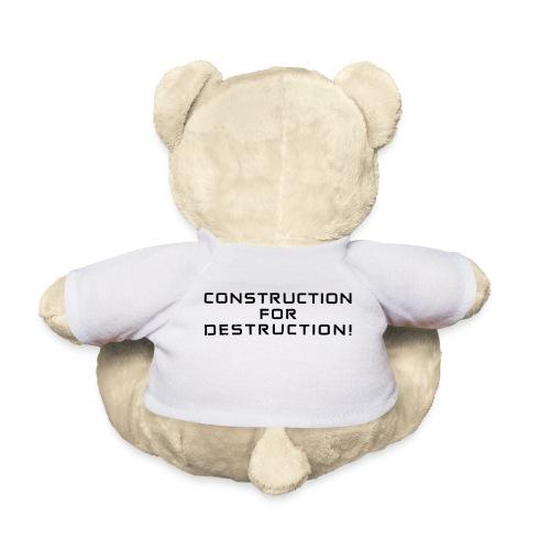Black Negant logo + CONTRUCTION FOR DESTRUCTION! - Teddybjørn