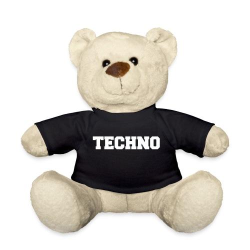 Techno Schriftzug - Teddy