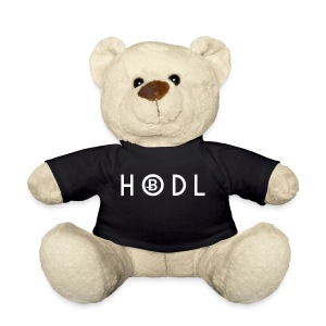 Hodle Bitcoins - White Design - Teddy Bear