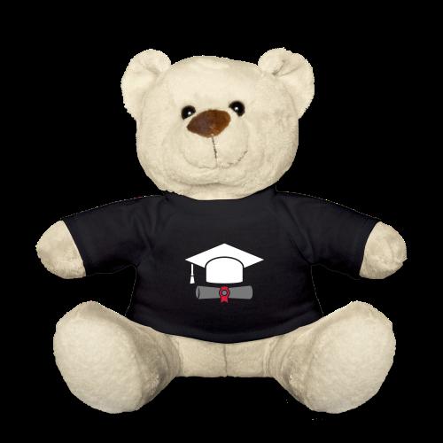 Doktorhut mit Zeugnis - Geschenk zum Abschluss - Teddy