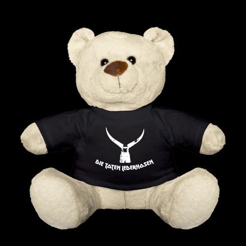 Lederhose mit Hörnern - weis - Teddy