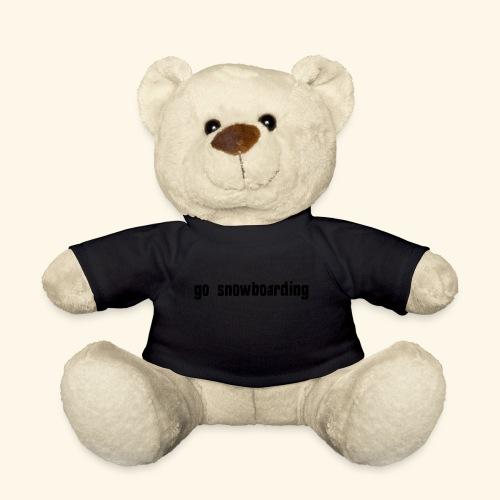 go snowboarding t-shirt geschenk idee - Teddy