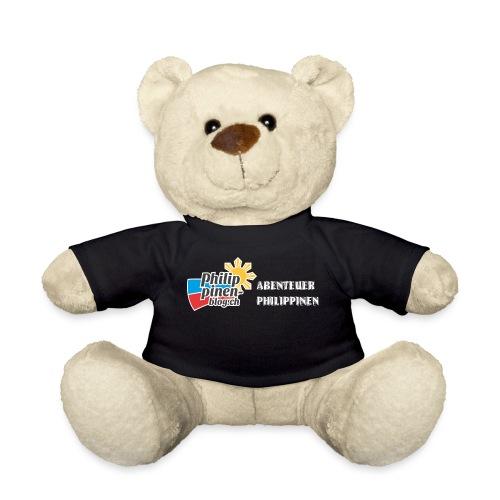 Philippinen-Blog Logo deutsch schwarz/weiss - Teddy