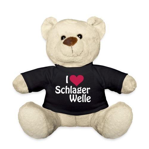 I love Schlagerwelle - Logo in Weiß - Teddy