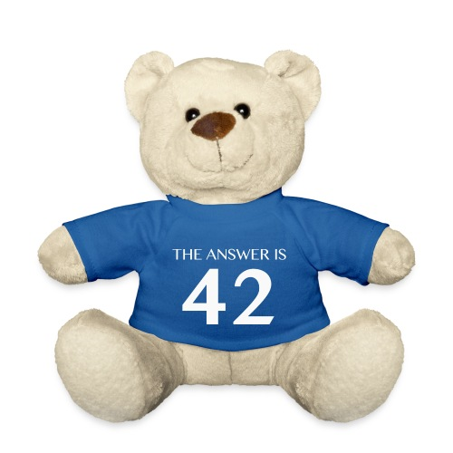 The Answer is 42 White - Teddy Bear