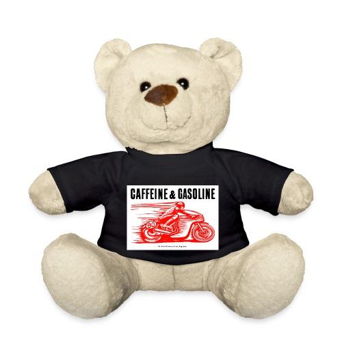 Caffeine & Gasoline black text - Teddy Bear