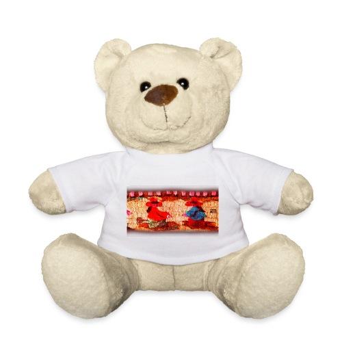 Dos Paisanitas tejiendo telar inca - Teddy Bear