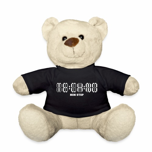 Techno Non Stop Digital Uhr - all night all day - Teddy