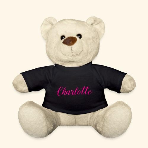 Geschenkidee Teddybär mit dem Name Charlotte - Teddy