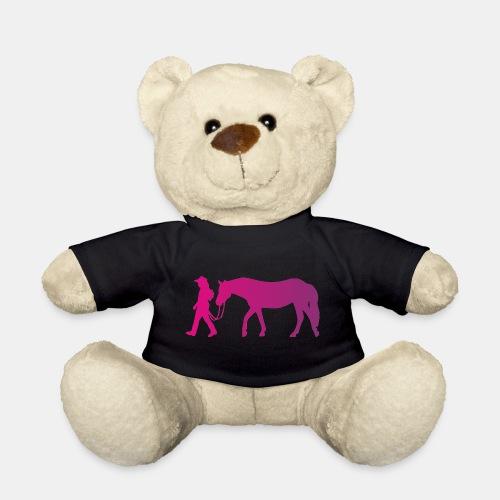 Mädchen führt Pferd, Horsemanship - Teddy