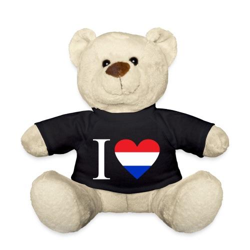 Ik hou van Nederland   Hart met rood wit blauw - Teddy
