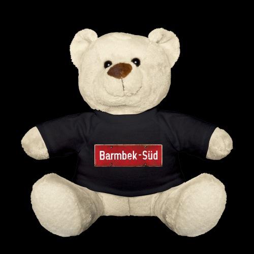 HAMBURG Barmbek Sued Ortsschild rot antik - Teddy