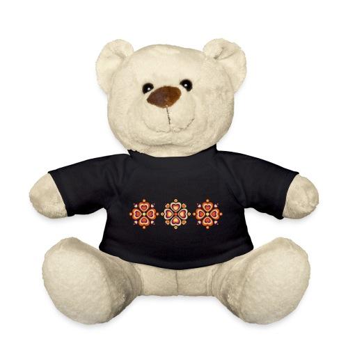 Retro Herzen fröhliche Blumen Vintage Valentinstag - Teddy Bear