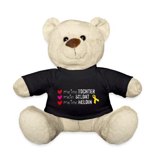 Meine Tochter Soldat Heldin weiss - Teddy
