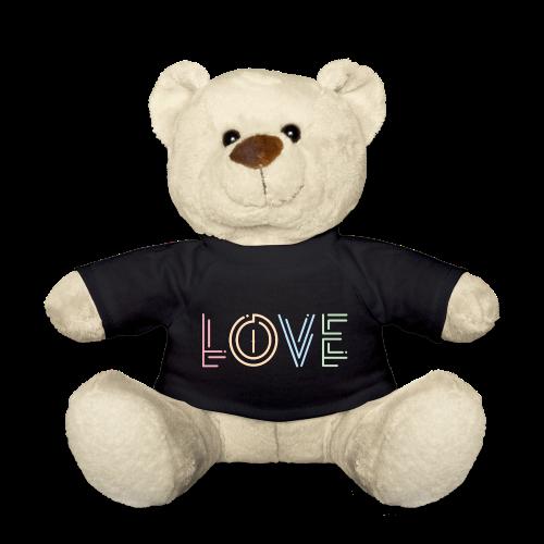 Liebe | Schriftzug kreativ bunt - Teddy