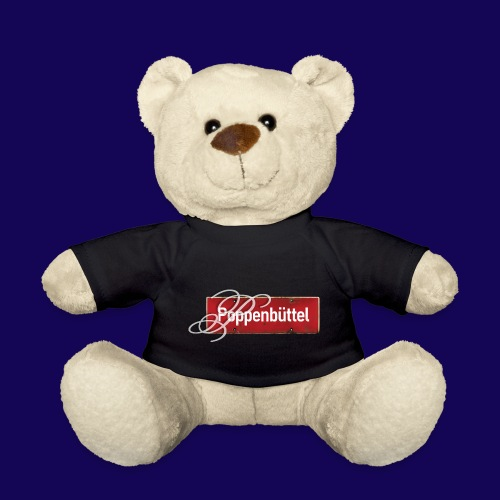 (Hamburg-) Poppenbüttel: Ortsschild mit Initial - Teddy