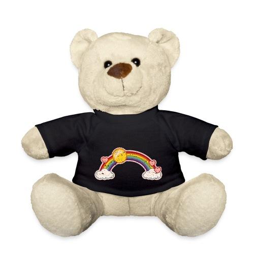 Regenbogen rainbow Wolke 7 Retro Grunge Vintage - Teddy Bear