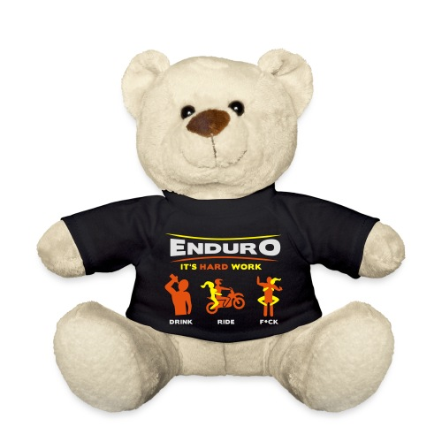 Enduro - It's hard work BlackShirt - Teddy