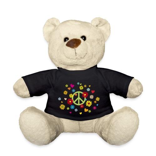 Peacezeichen Blumen Herz flower power Valentinstag - Teddy Bear