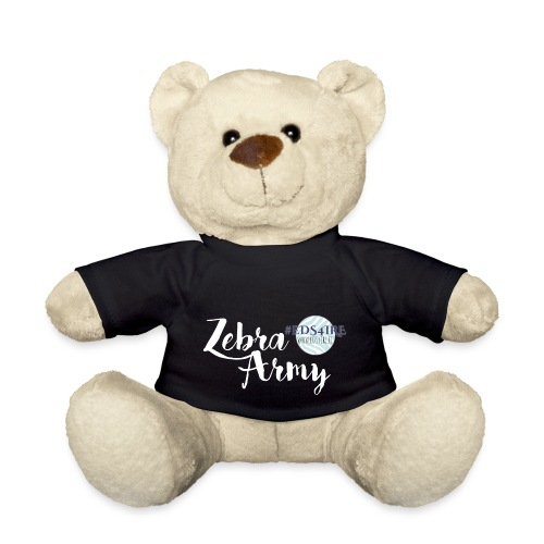 Zebra Army (white) - Teddy Bear