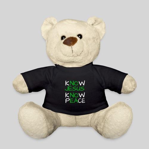 know Jesus know Peace - kenne Jesus kenne Frieden - Teddy