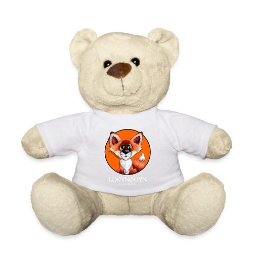 llwynogyn - a little red fox (white) - Teddy Bear